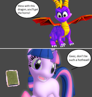 Injustice: Spyro the Dragon vs Twilight Sparkle by xXTrettaXx