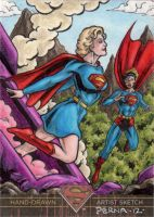 Superman the Legend- Supergirl + Superman by tonyperna