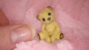 Miniature Handmade OOAK Sculpt Furred Bear by TreasuredByU
