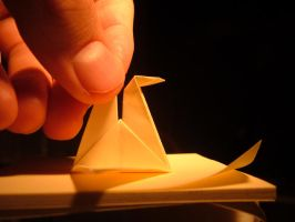 Origami duck wall_e by wall-e-ps