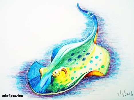 Colourful Stingray by mix4passion