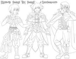 KH- RP Alternate Outfits by orogirl333