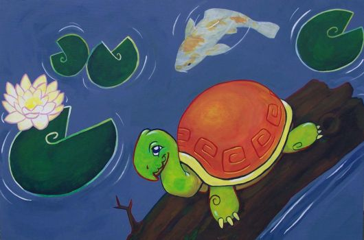 Lilies and turtle by motterhorn