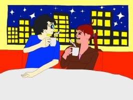 Dave and Valerie: Coffee Night by BARproductions