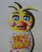 Toy chica painting by juliabubik