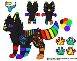 Rainbow Canine Adopt-CLOSED- by Wolfies--Adopts