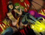 Jimbo Salgado S Vampirella And Morrigan  Redux by 626Ghost