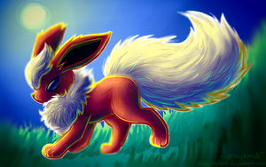 Flareon - A stroll in the Afternoon by NeppyNeptune