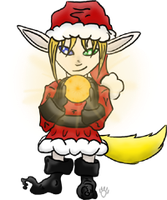 Calico as a chibi Elf. by CalicoWoolfe