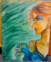 Parrot woman by Savay