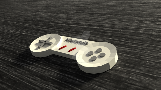 Nintendo Low Poly Controller by Sith4Brains
