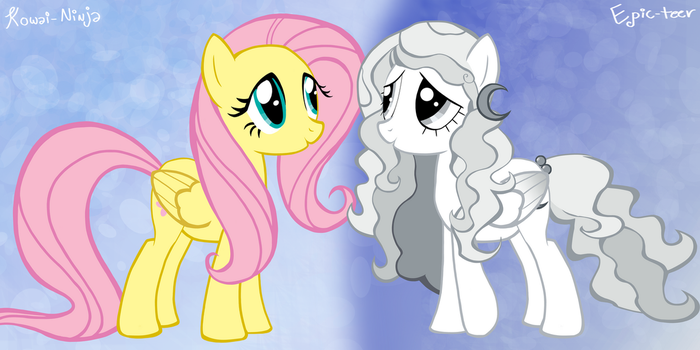 Fluttershy and Moon by the-epicteer