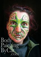 Octopus face paint by Bodypaintingbycatdot