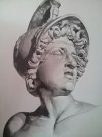 sculpture of achilles by isaac-laforete