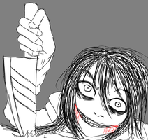 Jeff The Killer-I will find you. by MikaelBratLoni