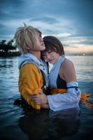 Yuna and Tidus: Wonderful Isn't It by SakuMiyuku