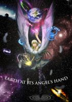 Earth at it's Angel's hand by kaiomutaru25