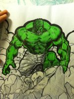 Another Hulk Sketch by TactusVamp