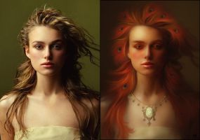 Fantasy Keira Knightley ver.2 (before-after) by Vayne17