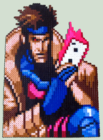 Gambit - Bead Sprite by XinMyForehead