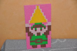 Link 8-bit sprite Photopearls by Ryuma5580