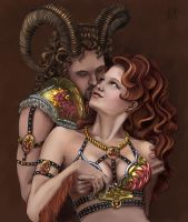 Leo  and Aries by Nochiel