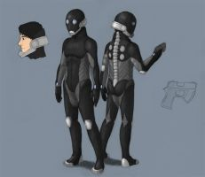Sci-fi soldier concept by philby