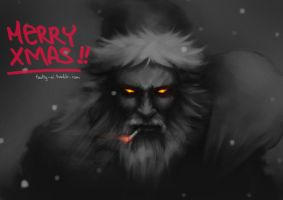 Santa is coming to town by faulty-ai