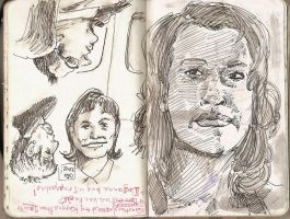 Sketchbook: Airport sketches by FWACATA