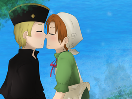 APH: Just a Kiss :3 by Masterchococheese