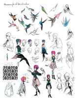 Hummingbird Sketches by shark-bomb
