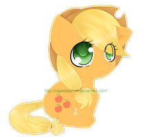 AppleJack Chibi by IFuckingHateDallas