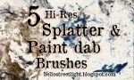 Free Brush Set 20: Splatter and Paint dabs by tau-kast