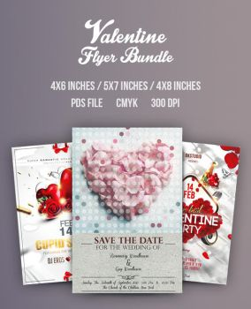 Valentine Flyer/Poster Bundle Vol.3 by another-graphic