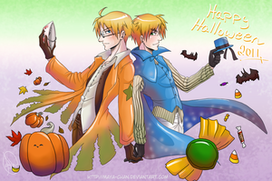 Happy Halloween - USUK - APH by Ahr0