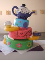 Tea party kake by kreativekortney