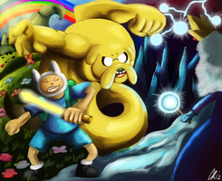 Adventure time Peace Vs Chaos by Phatmon66