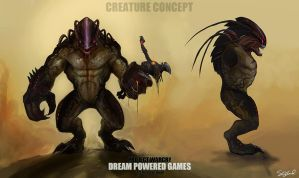 Creature Concept 2 - WarCry by stevegoad