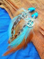 Mint Feather Earrings by Hide-Your-Feathers