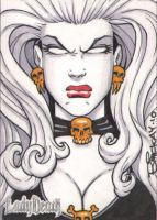 Lady Death Sample Sketch Card by BillMcKay