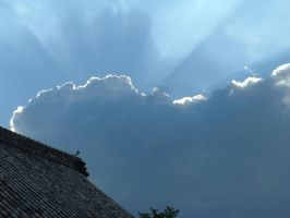 Temple clouds by calger459