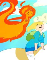 Fionna and flame by lValery