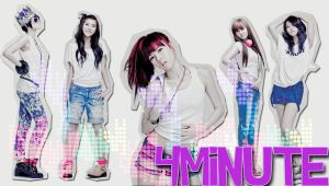 4minute My first wallpaper by SuPerStarsDiiSney