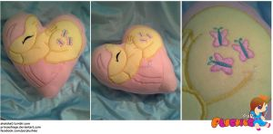 Fluttershy Heart Pillow by PrinceOfRage