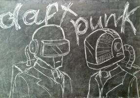 Daft Punk on Blackboard by RomanKanden