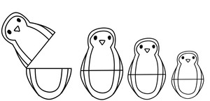 Coloring Page: Penguin Dolls by DJ-KOKO