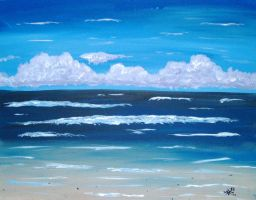 Day at the Beach Set 2 Acrylic by EsperAqua
