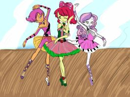 The Cutie Mark Crusaders Ballet by Symoned14