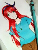 Lin *^* [with her hair out] by JustAHobbyist