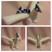 For Sale: Mini Lugia Plush by NightmarePlush